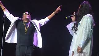 Monica singing to Charlie Wilson (snippet) LIVE in San Diego