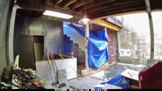 Outdoor Patio & Bar Construction Time-lapse