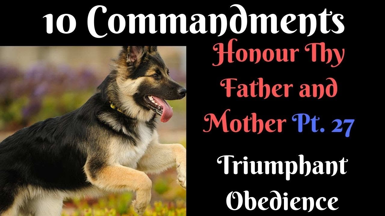 TEN COMMANDMENTS: HONOUR THY FATHER AND MOTHER PT. 27 (TRIUMPHANT OBEDIENCE)