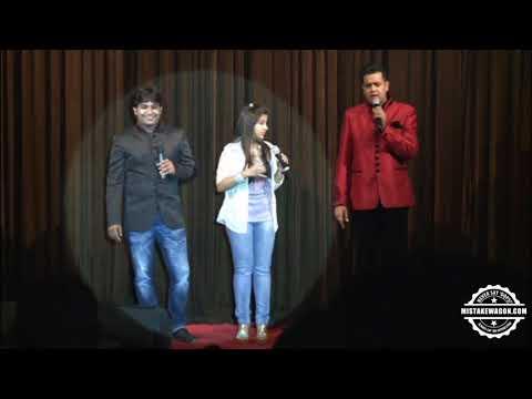 Aishwarya Majmudar & Bhumik Shah Thanking Manoj Bhai Tolia & Gujarat Club Calcutta (GCC) - 2013