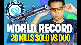 JE BATS MON PROPRE RECORD DU MONDE ! 🏅 WORLD RECORD - SOLO VS DUO - 29 KILLS - KINSTAAR