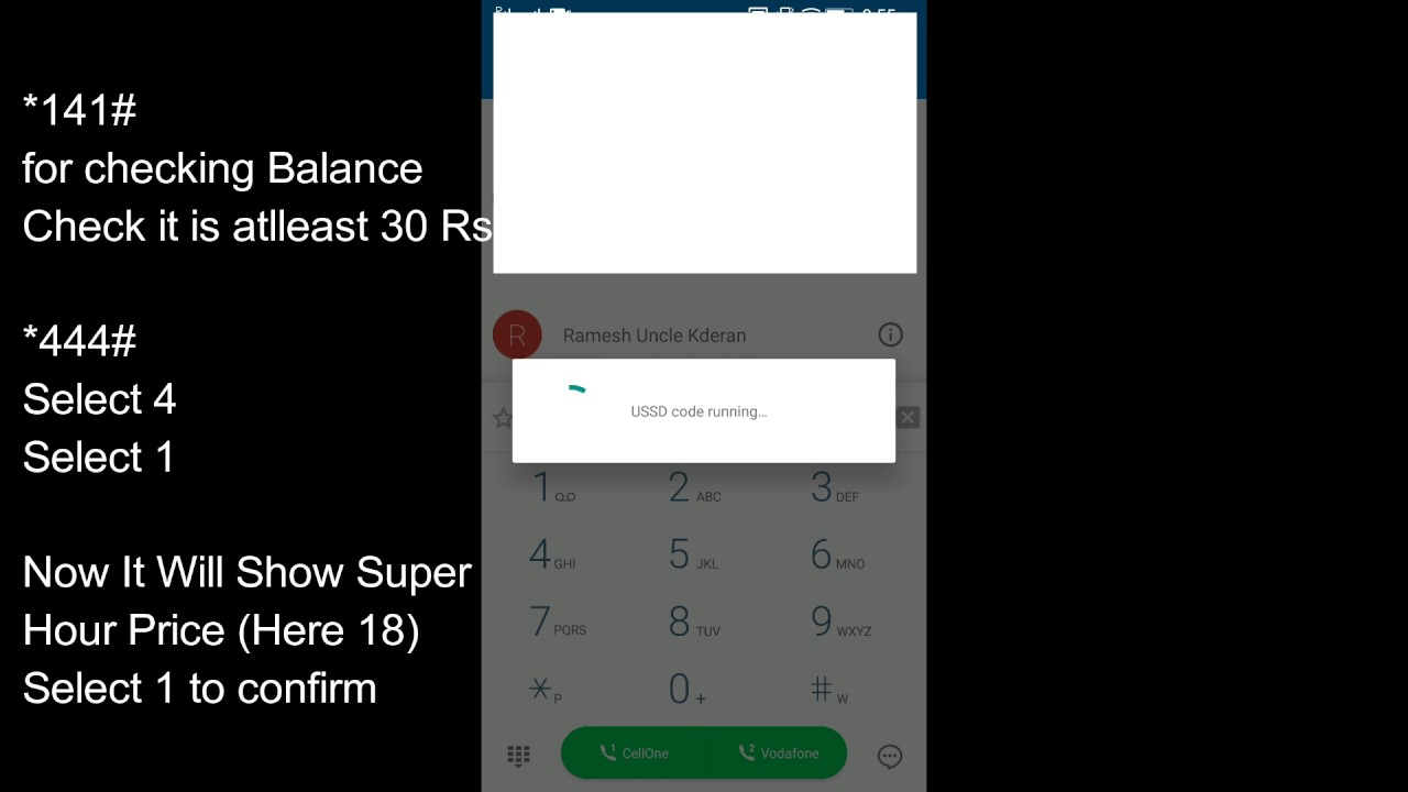 How To Recharge Vodafone Super Hour 16 Rs Unlimited Internet For 1 Hour Plan Hindi Youtube