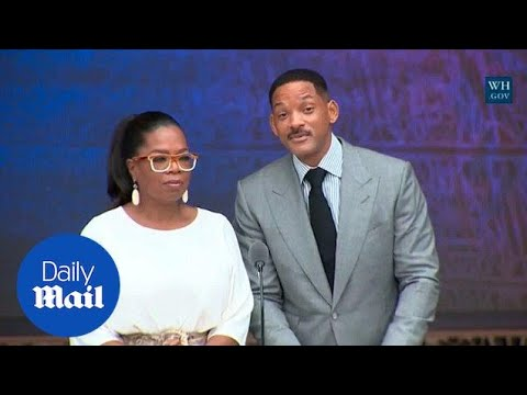 Oprah Winfrey and Will Smith engage in a 'poetry-off' - Daily Mail