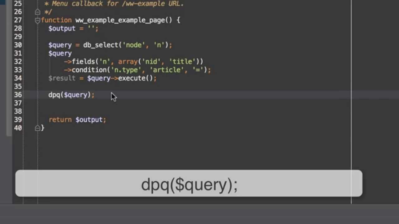 How to Debug Queries Using Devel