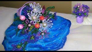 Цветы из бисера / Красивая КОМПОЗИЦИЯ СВОИМИ РУКАМИ