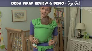 boba stretchy wrap review and demo legs out giveaway   cloudmom