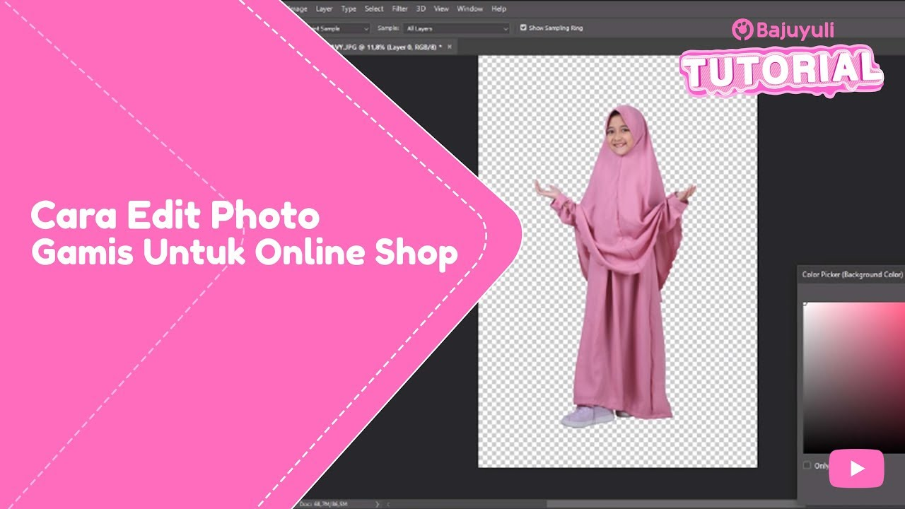 Tutorial Ganti Background Photo Untuk Toko Online Shop Bytutorial Youtube