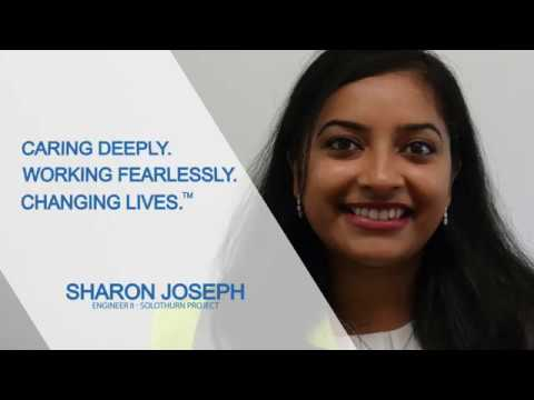 Sharon J., Engineering, working at Biogen's next generation manufacturing facility in Solothurn