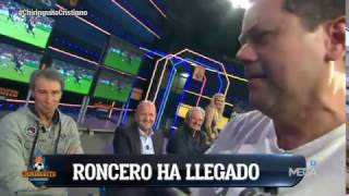 Espectacular entrada de Roncero a plató: