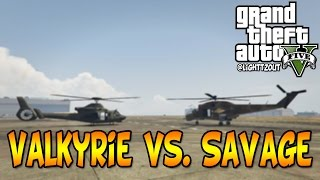 Valkyrie vs Savage | GTA Heists Vehicle Damage Tests