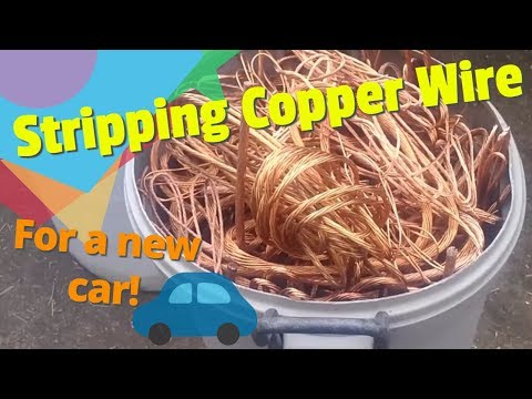 Stripping copper wire to buy a new car! Full-time Scrapper/Reseller, Hunting roadside treasure.