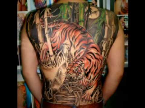 Xam hinh, tattoo, TIGER full back, hinh xam tattoo.wmv