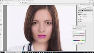 Как поменять цвет губ в Фотошоп