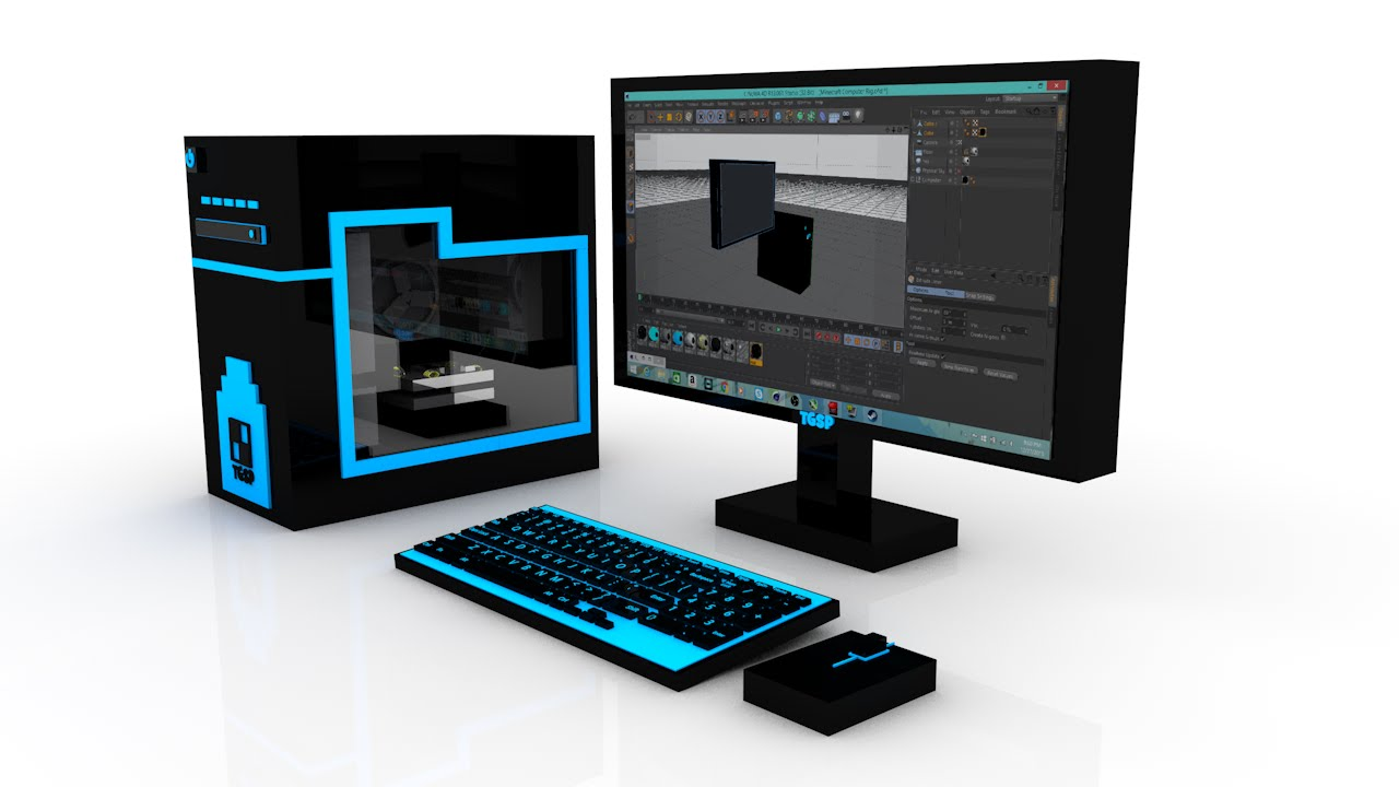 minecraft computer rig for cinema 4d free download youtube. Black Bedroom Furniture Sets. Home Design Ideas