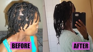 Natural Hair| Braids helped my hair grow!! (4B/4C hair)
