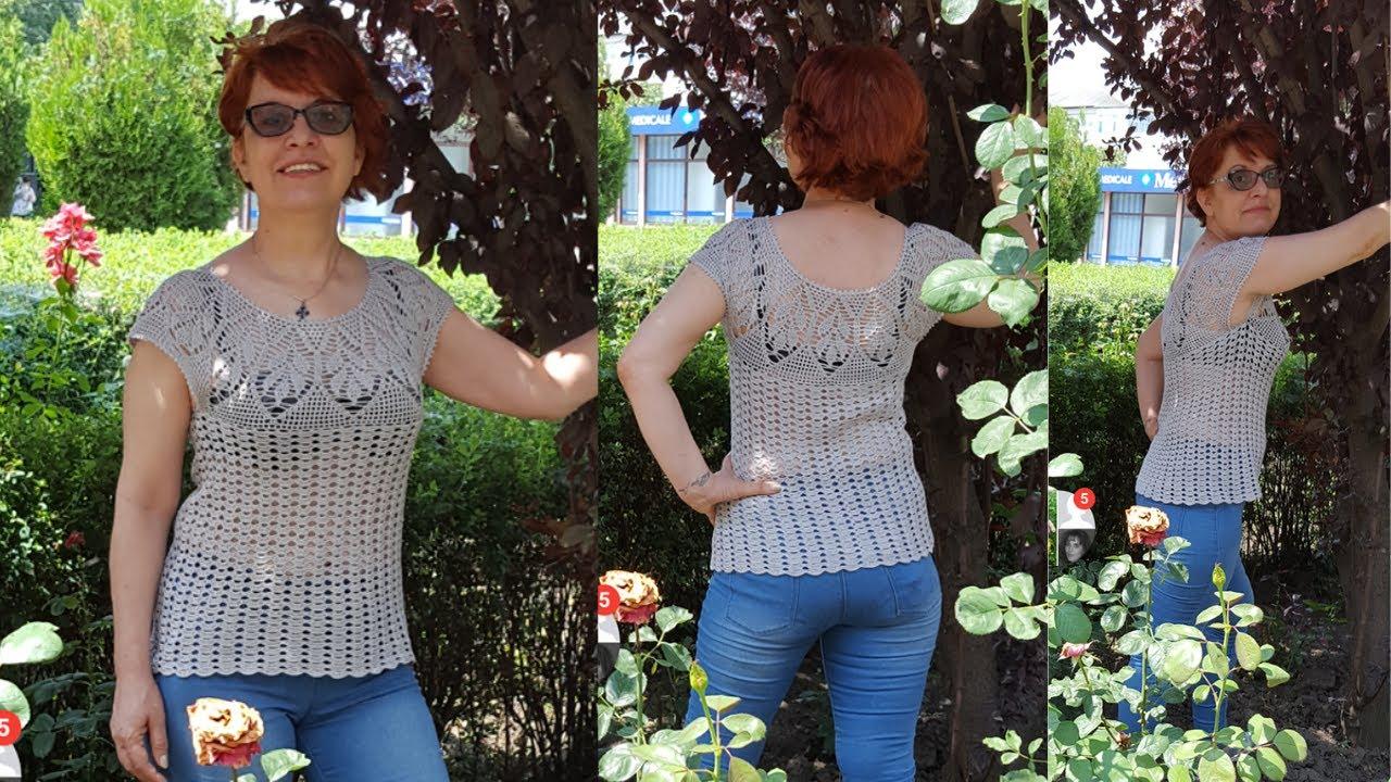 Cum croșetăm bluză de vară Serena - PARTEA A II-A / tutorial pas cu pas - ușor de adaptat pe mărimi