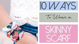 10 Ways To Wear a Skinny Scarf | Fashion Over 40