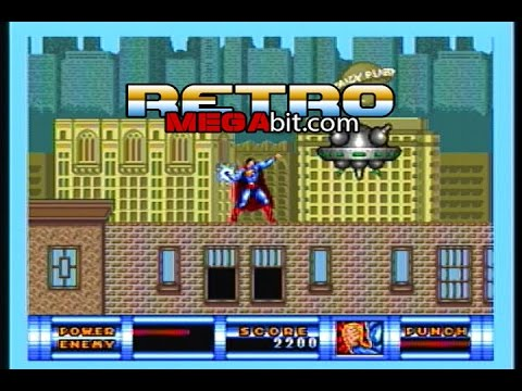 Retro Megabit: Sega Genesis Superman Gameplay