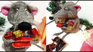 видео урок.Крысенок-интерьерная игрушка из ткани,своими руками.