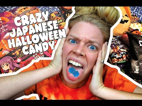 JAPANESE HALLOWEEN CANDY TASTE TEST- ft GROSS TRICK CANDY!