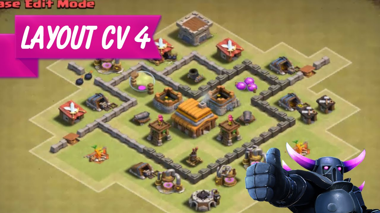 layout cv 4 guerra clash of clans o melhor youtube - Layout Cv 4 Clash Of Clans