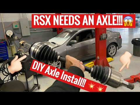 02-06 Acura Rsx cv axle replacement diy