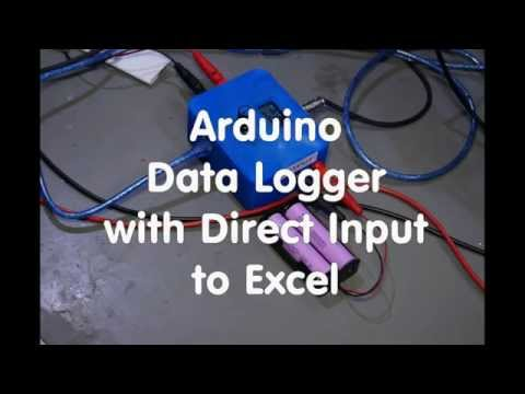 9 Arduino Data Logger with Direct Input to Excel - YouTube