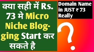 Rs.73 me Micro Niche Blog Kaise Bnaye  Create a Micro Niche Blog|Ideas|Examples|Tips|Topics|In Hindi