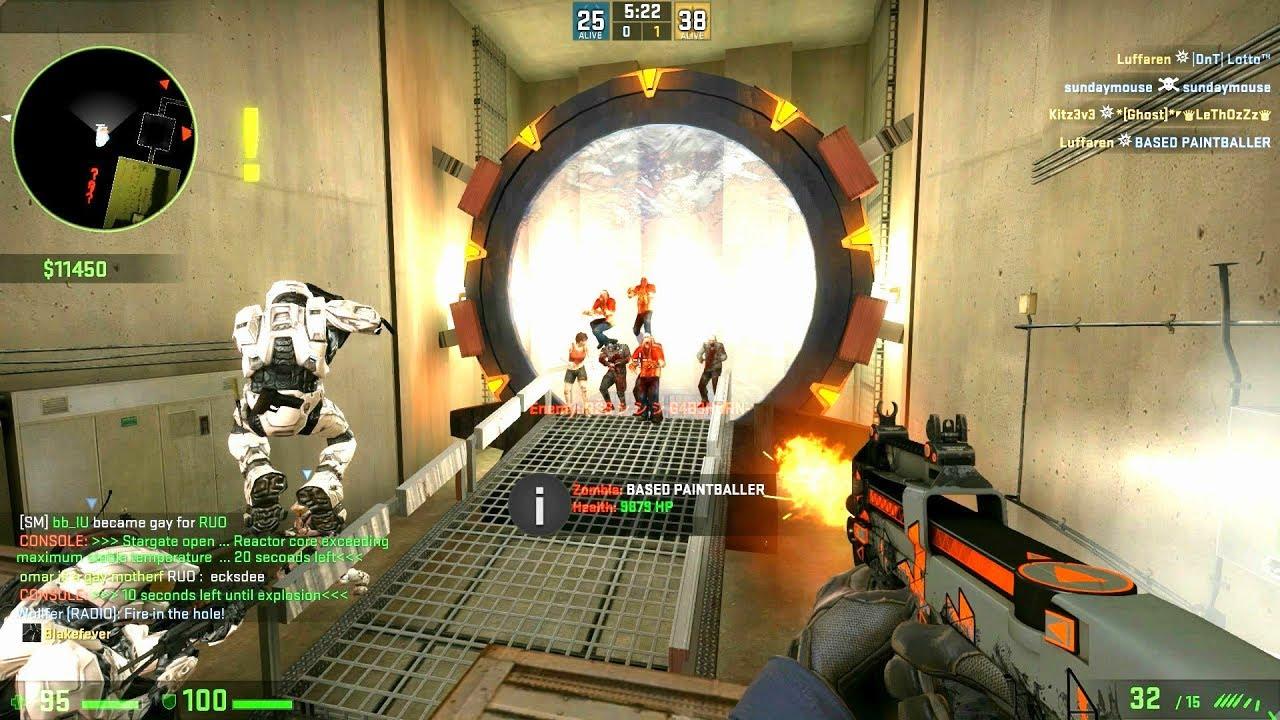 CS:GO - Zombie Escape Mod - Map: ze_Stargate_Escape - GFL Server - YouTube