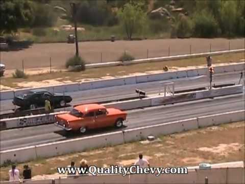 1955 Chevrolet Bel Air Drag Racing Barona Drag Strip 4 6 2013 Youtube