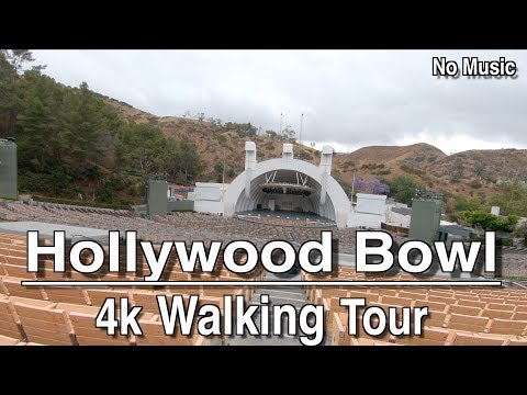 Hollywood Bowl Los Angeles | 4k Walking Tour | No Music
