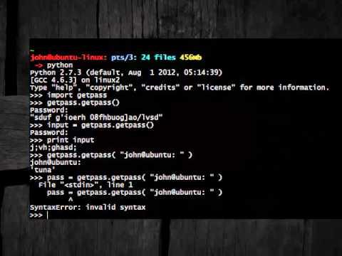 Python [getpass] 02 Get Password
