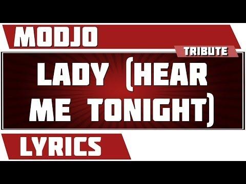 Lyrics Lady (Hear Me Tonight) - Modjo tribute