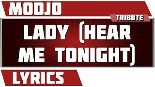 Lyrics Lady (Hear Me Tonight) - Modjo tribute