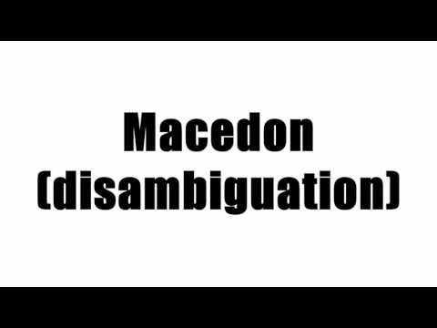 Macedon (disambiguation)
