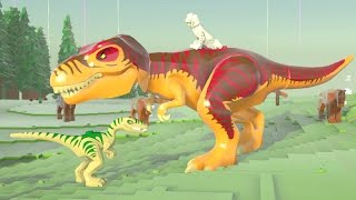 LEGO Worlds (PS4) - T-Rex Gameplay (Dinosaurs Unlocked)
