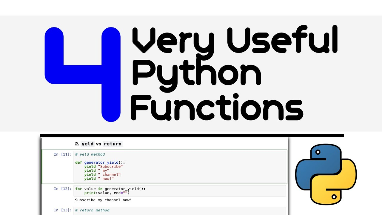 4 Python Functions That Makes Your Life Easier