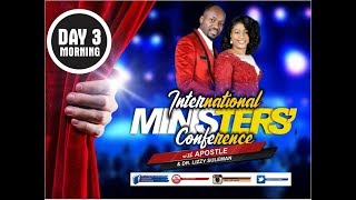 Int'l Ministers' Conference 2019, March Edition (Day 3 Morning) With Apostle Johnson Suleman