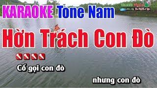 Hờn Trách Con Đò Karaoke   Tone Nam - Nhạc Sống Thanh Ngân