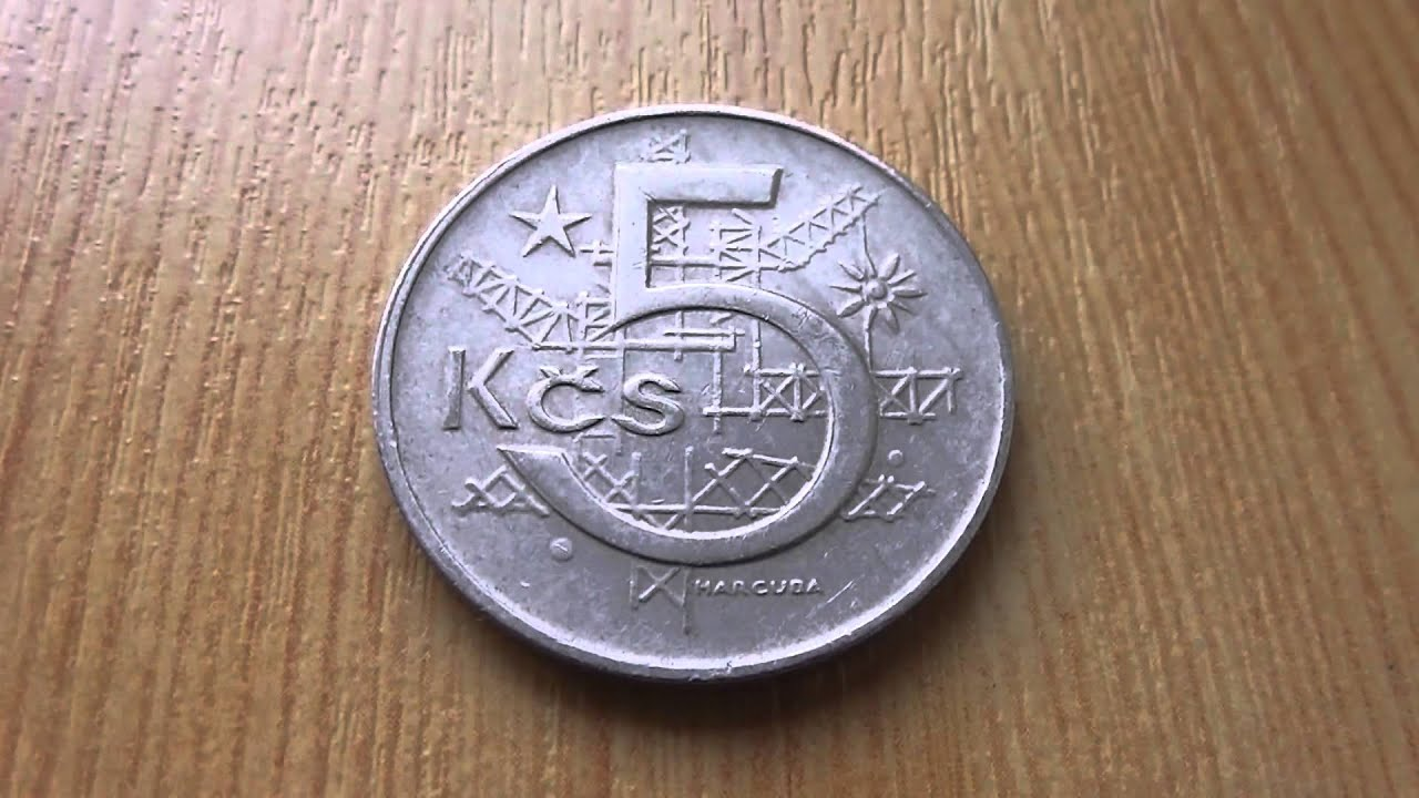 5 Kcs Münze Ceskoslovenska Socialisticka Republika Youtube