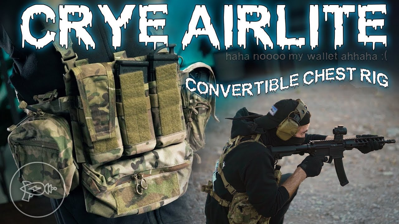 The Bottomless Nylon Money Pit 💸 Crye Precision Airlite Convertible Chest Rig! [Review]