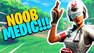 NOOB MEDIC!!! *NEW* FIELD SURGEON SKIN!!! Fortnite Battle Royale Gameplay