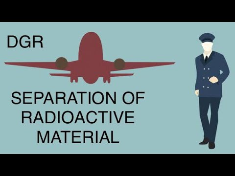 DGR Separation of Radioactive Material - Passenger and Cargo Aircraft
