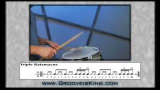 DRUM RUDIMENTS - Triple Ratamacue - Drum Lessons - How to play drums
