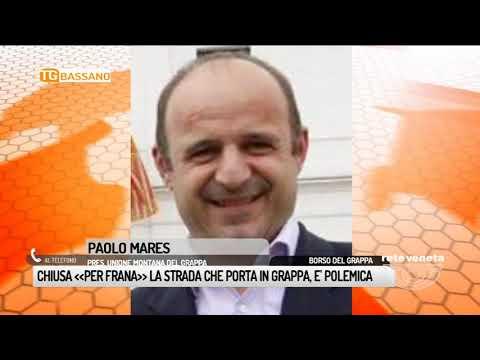 TG BASSANO (23/05/2018) - CHIUSA « PER FRANA»LA STRADA CHE PORTA IN GRAPPA, E' POLEMICA