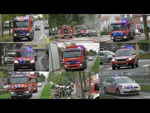 [GRIP 1] Veel Brandweer met spoed naar Grote woningbrand in Oss