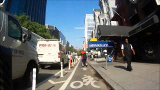 How to deal with pedestrians in the bike lane