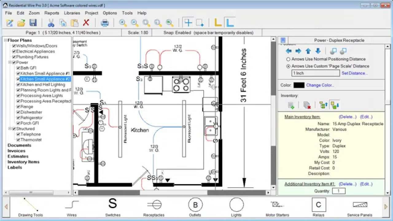 Residential Wire Pro Software - Draw Detailed Electrical Floor ...