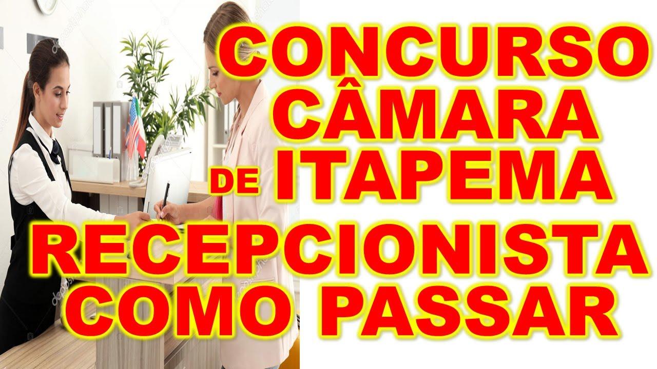 Concurso Câmara de  Itapema SC Recepcionista Como passar e gabaritar com esse método banca #IPPEC