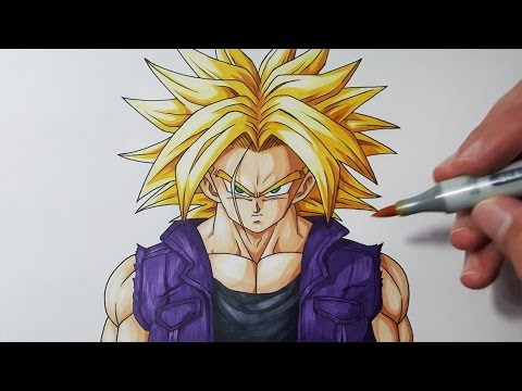 How To Draw Kid Trunks Step By Step